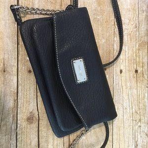Nine West black crossbody clutch purse